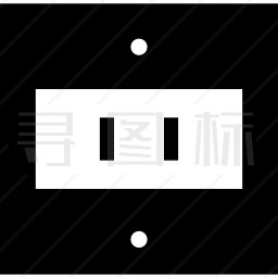 两直线孔电插座图标 有svg Png Eps格式 寻图标