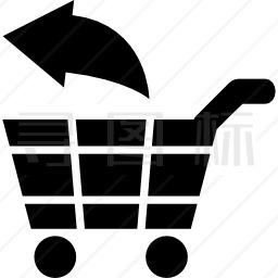 电子商务的车外商业符号图标