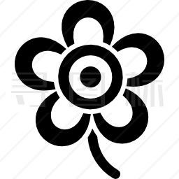 花瓣五瓣美丽造型图标