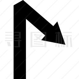 具有角度的箭头直线符号图标 有svg Png Eps格式 寻图标