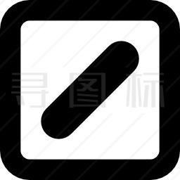 方形轮廓键中的斜线或分割符号图标 有svg Png Eps格式 寻图标