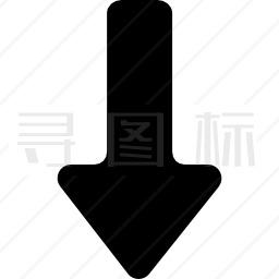 下降直线填充箭头图标 有svg Png Eps格式 寻图标
