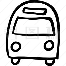 客车正面拉手轮廓图标