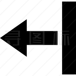 一条直线上的左箭头图标 有svg Png Eps格式 寻图标