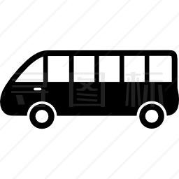 客车侧视图图标