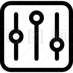 音乐控制设置按钮图标