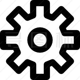设置齿轮按钮图标