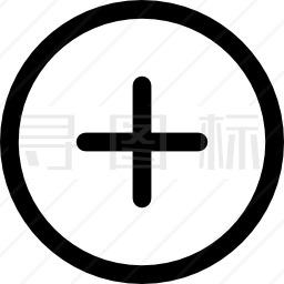 圆形添加按钮图标