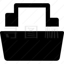 文件夹中的文档图标