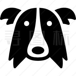 边境牧羊犬狗头图标