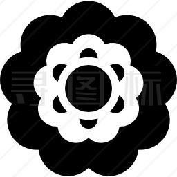 美丽的花瓣图标