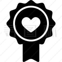 徽章心图标