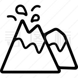 喷发火山图标