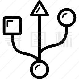 USB标志图标