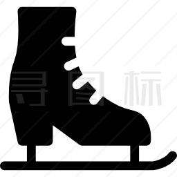 左溜冰鞋靴图标