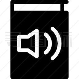 带扬声器的有声读物图标