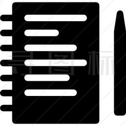 笔记本和铅笔图标