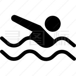游泳课图标