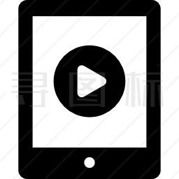 平板电脑上的视频播放器图标