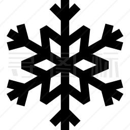冬季雪片图标