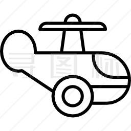 木直升机图标