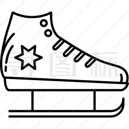 溜冰鞋靴图标