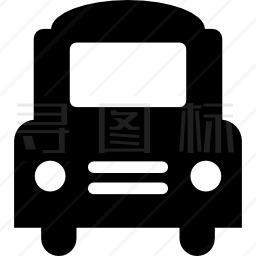大客车正面图标