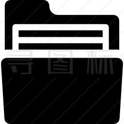 带文档的文件夹图标