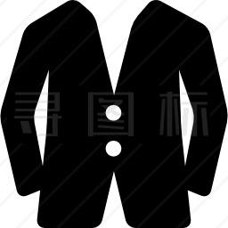 带两个纽扣的夹克图标
