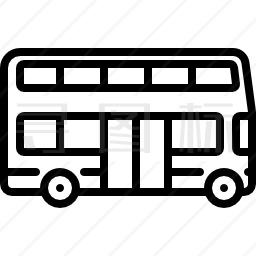 大型双层客车图标