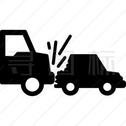 卡车撞车图标