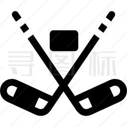 冰上曲棍球图标