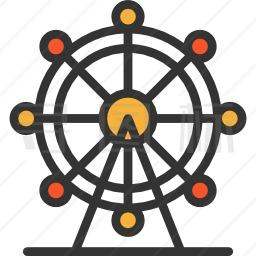摩天轮图标-有SVG,PNG,EPS格式-寻图标