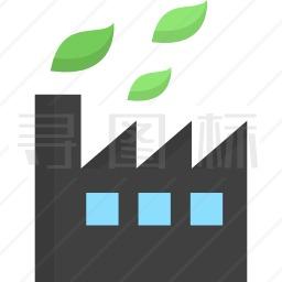 可持续工厂图标