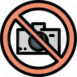 禁止拍照图标