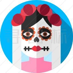 墨西哥骷髅图标