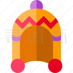 编织帽图标