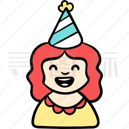 生日女孩图标