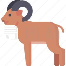 山羊图标 有svg Png Eps格式 寻图标