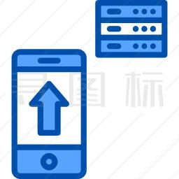 数据库和云蓝色图标36个icon批量下载 有svg Png Eps 矢量图格式 寻图标