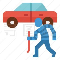 偷车贼图标