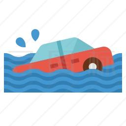 车辆涉水图标