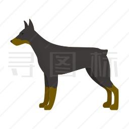 杜宾犬图标