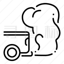 汽车尾气污染图标