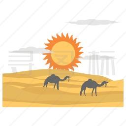 沙漠骆驼图标