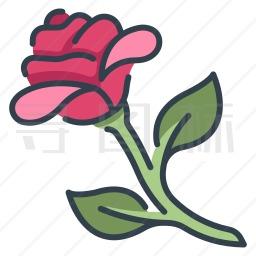 玫瑰花图标