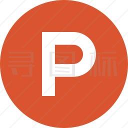 字母P标志图标