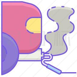 汽车尾气管图标