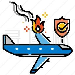 飞机意外险图标