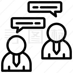 商业对话图标